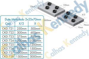 Duto Modulado 2x25x70mm