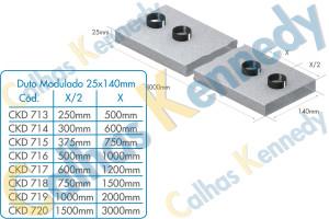 Duto Modulado 25x140mm