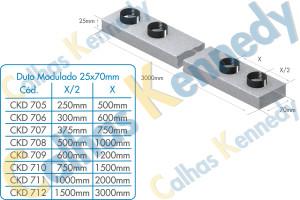 Duto Modulado 25x70mm
