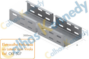 Eletrocalhas - Eletrocalha Perfurada na Lateral com Virola