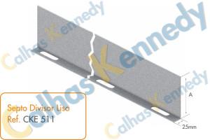 Eletrocalhas - Septo Divisor Liso