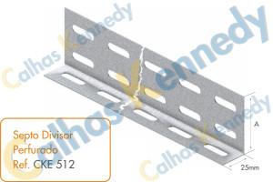 Eletrocalhas - Septo Divisor Perfurado