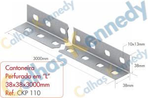 Acessórios para Perfilados - Cantoneira Perfurada em L 38x38X3000