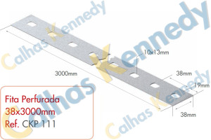 Acessórios para Perfilados - Fita Perfurada em 38x3000mm