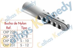 Acessórios para Perfilados - Bucha de Nylon