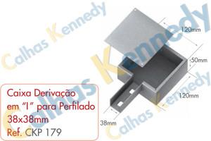 """Acessórios para Perfilados - Caixa com Derivação em """"i """" para Perfilado 38x38mm"""