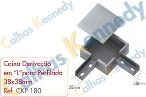 """Acessórios para Perfilados - Caixa com Derivação em """"L """" para Perfilado 38x38mm"""