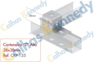 """Acessórios para Perfilados - Cantoneira """"Z"""" Alta 38x38mm"""