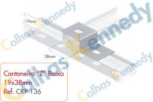 "Acessórios para Perfilados - Cantoneira ""Z"" Baixa 38x38mm"