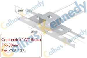 "Acessórios para Perfilados - Cantoneira ""ZZ"" Baixa-19x38mm"