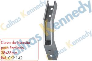Acessórios para Perfilados - Curva de Inversão para Perfilado 38x38mm
