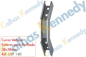 Acessórios para Perfilados - Curva Vertical Externa para Perfilado 38x38mm