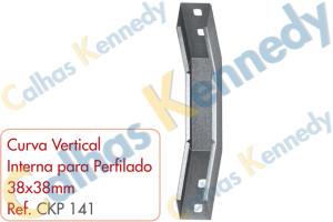 Acessórios para Perfilados - Curva Vertical Interna para Perfilado 38x38mm