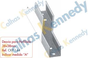 Acessórios para Perfilados - Desvio para Perfilado 38x38mm