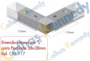 Acessórios para Perfilados - Emenda Interna L Perfilado 38x38mm