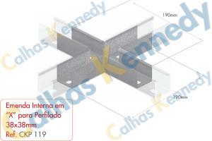 Acessórios para Perfilados - Emenda Interna X Perfilado 38x38mm