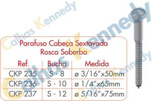 Acessórios para Perfilados - Parafuso-Cabeça Sextavada Rosca Soberba