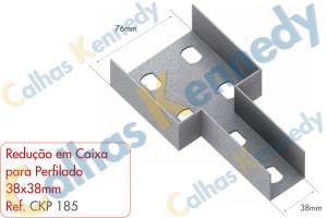 Acessórios para Perfilados - Redução em Caixa para Perfilado 38x38mm