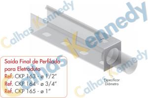 Acessórios para Perfilados - Saída Final de Perfilado para Eletroduto