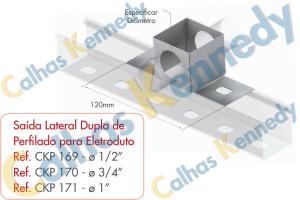 Acessórios para Perfilados - Saída Lateral Dupla de Perfilado para Eletroduto