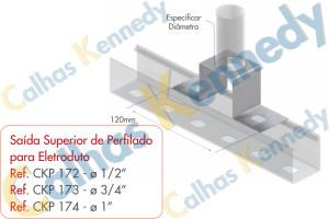 Acessórios para Perfilados - Saída Superior de Perfilado para Eletroduto