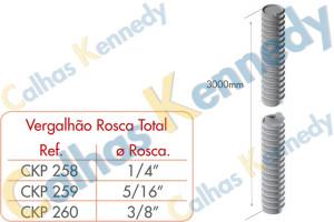 Acessórios para Perfilados - Vergalhão Rosca Total