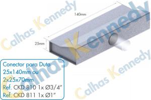 Acessórios para Dutos de Piso - Conector para Duto 25x140 1 Saída