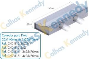 Acessórios para Dutos de Piso - Conector para Duto 25x140 2 Saídas