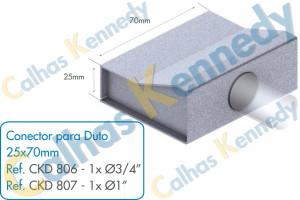 Acessórios para Dutos de Piso - Conector para Duto 25x70 1 saída