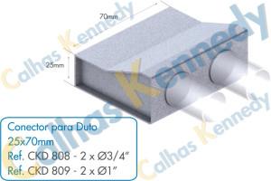 Acessórios para Dutos de Piso - Conector para Duto 25x70 2 Saídas