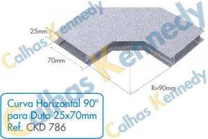 Acessórios para Dutos de Piso - Curva Horizontal 90 para Duto 25x70mm