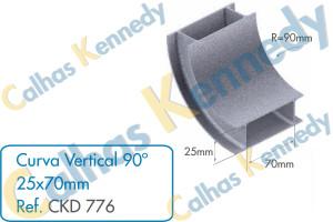 Acessórios para Dutos de Piso - Curva Vertical 90 para Duto 25x70mm