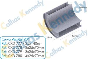 Acessórios para Dutos de Piso - Curva Vertical 90 para Duto