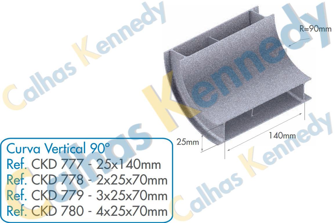 Acess rios para dutos de piso eletrocalhas kennedy for Curva vertical exterior 90