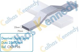 Acessórios para Dutos de Piso - Desnível Duplo para Duto 25x70mm