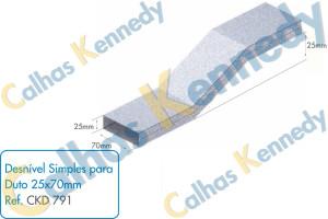 Acessórios para Dutos de Piso - Desnível Simples para Duto 25x70mm