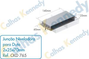 Acessórios para Dutos de Piso - Junção Niveladora para Duto 2x25x70mm