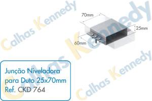 Acessórios para Dutos de Piso - Junção Niveladora para Duto 25x70mm