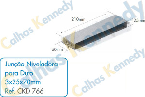 Acessórios para Dutos de Piso - Junção Niveladora para Duto 3x25x70mm