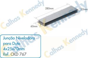 Acessórios para Dutos de Piso - Junção Niveladora para Duto 4x25x70mm