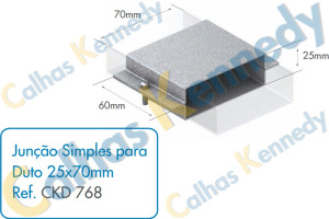 Acessórios para Dutos de Piso - Junção Simples para Duto 25x70mm
