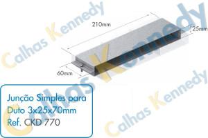 Acessórios para Dutos de Piso - Junção Simples para Duto 3x25x70mm