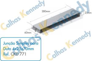 Acessórios para Dutos de Piso - Junção Simples para Duto 4x25x70mm
