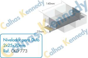 Acessórios para Dutos de Piso - Nivelador para Duto 2x25x70mm