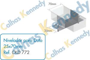 Acessórios para Dutos de Piso - Nivelador para Duto 25x70mm