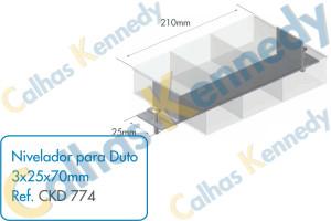 Acessórios para Dutos de Piso - Nivelador para Duto 3x25x70mm