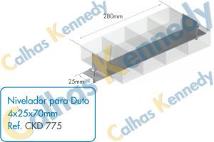 Acessórios para Dutos de Piso - Nivelador para Duto 4x25x70mm