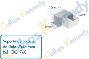 Acessórios para Dutos de Piso - Suporte de Fixação de Duto 25x70mm