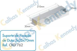 Acessórios para Dutos de Piso - Suporte de Fixação de Duto 3x25x70mm