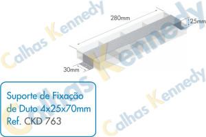 Acessórios para Dutos de Piso - Suporte de Fixação de Duto 4x25x70mm
